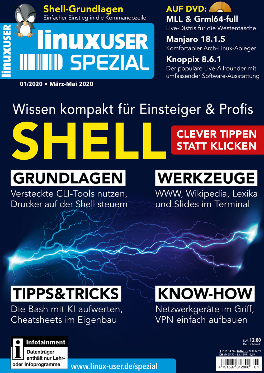 "LinuxUser Spezial Sonderheft ""Shell-Power"" 01/2020"